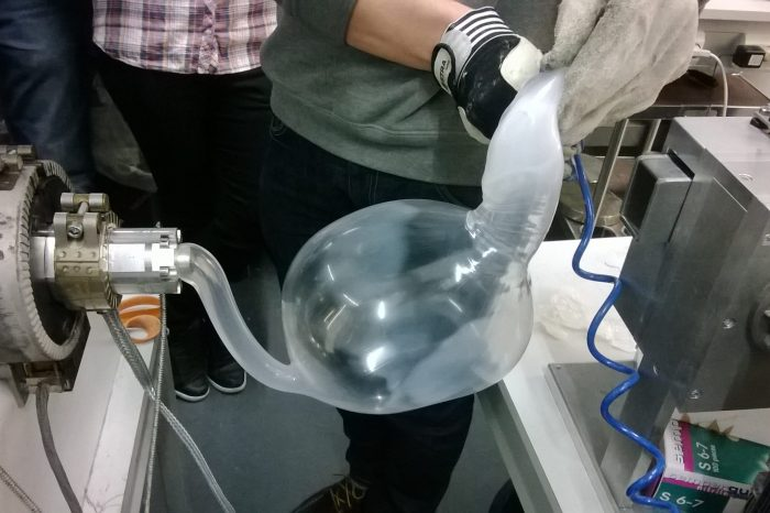 Inflating polyethylene