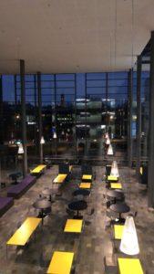 Arcada campus in the evening